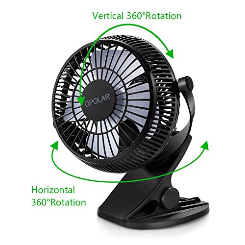 Opolar Clip On And Desk Personal Fan 2 In 1 Applications