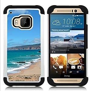 GIFT CHOICE / Defensor Cubierta de protección completa Flexible TPU Silicona + Duro PC Estuche protector Cáscara Funda Caso / Combo Case for HTC ONE M9 // Iberian Peninsula //
