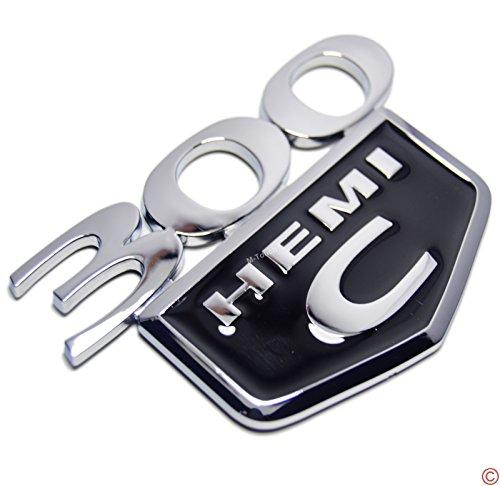 Chrome Black 300 C Hemi Rear Trunk Boot Lid Hatch Tailgate Side Emblem Badge Decal for Chrysler