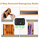 5-Way Powered 5000mAh Solar Hand Crank NOAA Weather