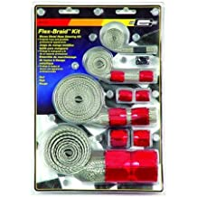 Mr. Gasket 8090 Red Flex-Braided Hose Sleeve Kit