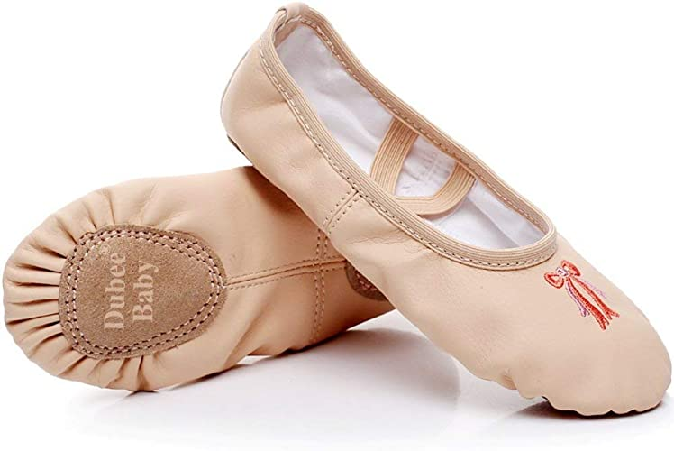 Amazon.com | DubeeBaby Leather Ballet Shoes for Girls, Ballet ...