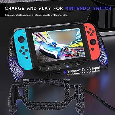 Walmeck- Juego de Agarre de Carga para Nintendo Switch Console Joy ...