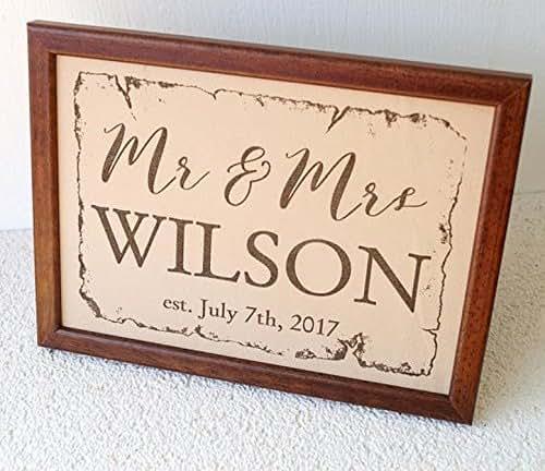 3rd Wedding Anniversary Gift: Amazon.com: 3rd Anniversary Gift, Leather Wedding Sign