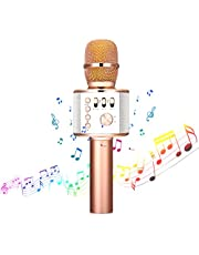 Wireless Karaoke Microphone - NASUM 3-in-1 Portable Built in bluetooth 4.1 Speaker Machine for Android/iPhone/iPad/Sony/,PC or All Smartphone,for Singging, Karaoke, Recording (red)