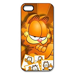 film cartoon Garfield Personalized iPhone 5,5S Hard Plastic Shell Case Cover White&Black(HD image)