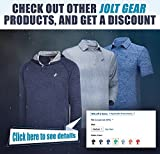 Jolt Gear Mens Dry Fit Golf Polo Shirt, Athletic