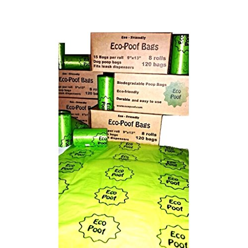 EcoPoof Doggie and Kitty Litter Poop Bags 120 Count - Green Doggie Poop Bags for Pet Waste Removal