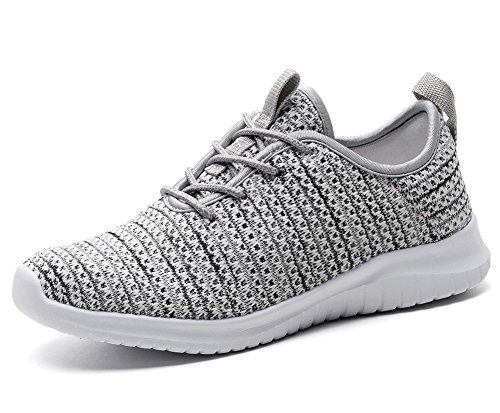 Stylish Womens TIOSEBON Trainers Sports 2111 Breathable Lightweight Run Gray Light qSZEwA