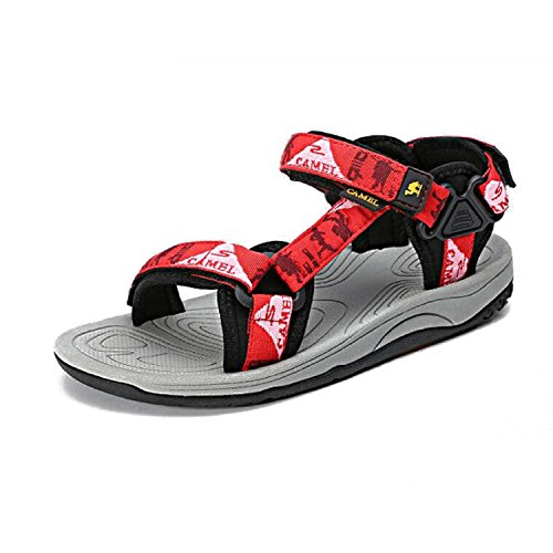 Sandal Sandals Athletic Stylish Outdoor Womens Red Durable Beach Camel Lightweight 7q48aRg