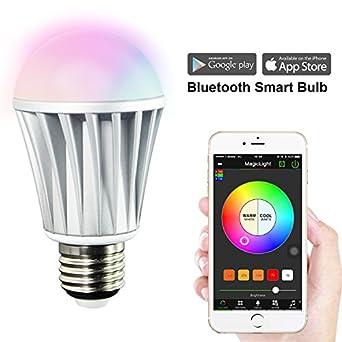 Magiclight Bluetooth Smart Led Light Bulb Smartphone