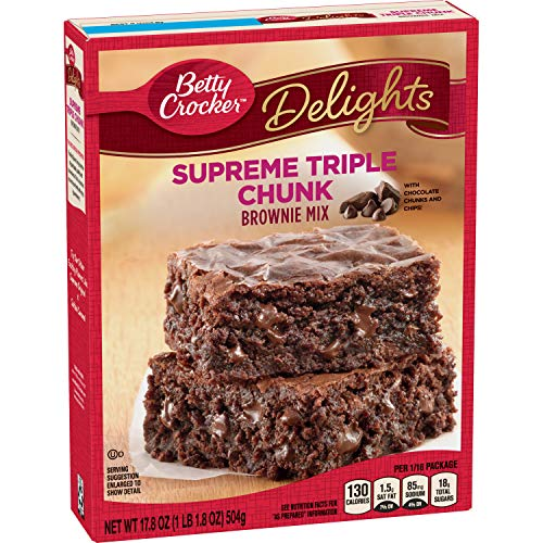 Betty Crocker Delights, Supreme Triple Chunk Brownie Mix, 17.8 oz ()