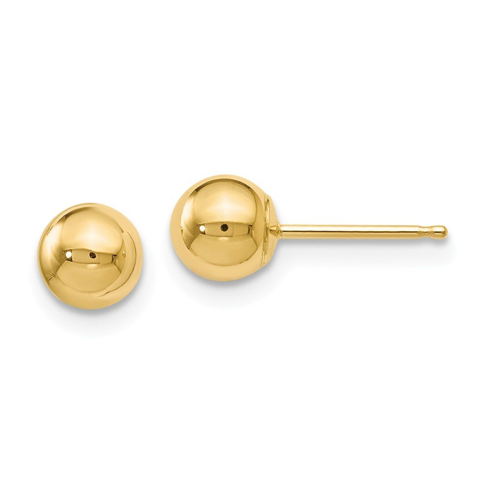 Roy Rose Jewelry Leslies 14K Yellow Gold Polished 5mm Ball Post Earrings