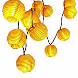 LUCKLED Outdoor Fairy Lantern Solar String Lights, 19.7ft 30 LED Christmas Globe Lights for Indoor and Outdoor, Home, Lawn, Garden, Wedding, Patio, Party, and Holiday Decorations (Warm White)