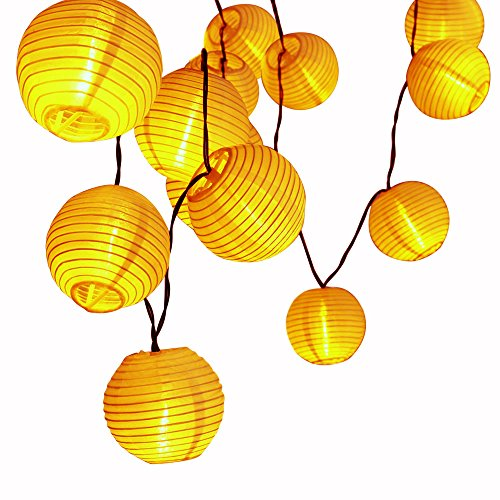 LUCKLED Outdoor Fairy Lantern Solar String Lights, 19.7ft 30 LED Christmas Globe Lights for Indoor and Outdoor, Home, Lawn, Garden, Wedding, Patio, Party, and Holiday Decorations (Warm (Outdoor Lantern Lights)