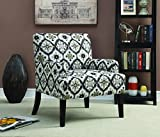 Coaster Home Furnishings 902621 Kaleidoscope Pattern Accent Chair, Grey For Sale