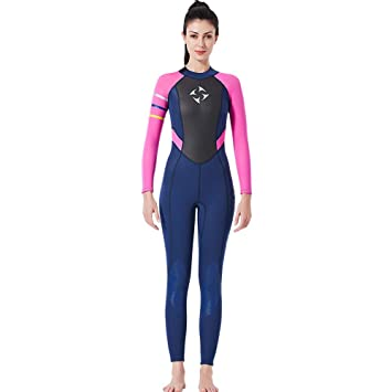 3 MM Traje de Neopreno Siam/és Snorkel Surf Ropa Mujer de Una Pieza de Manga Larga de Secado R/ápido Traje de Ba/ño Traje de Buceo Traje de Buceo