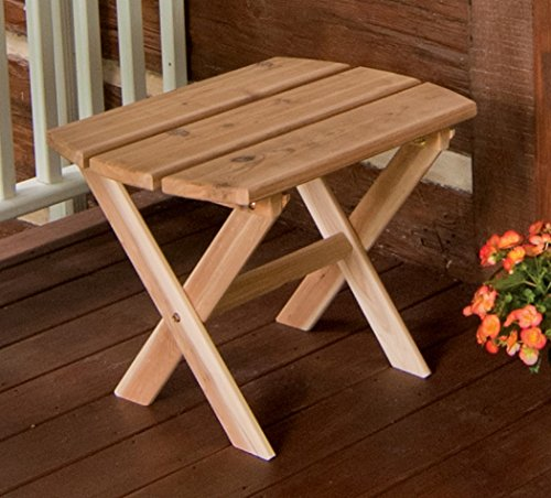 A & L Furniture Folding Oval End Table, Oak (Oak Oval Folding Table)