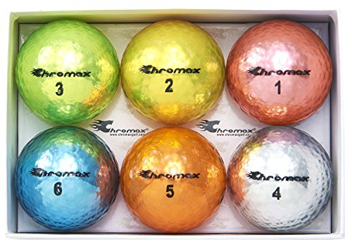 Chromax Metallic M5 Colored Golf Balls (Pack of 6)