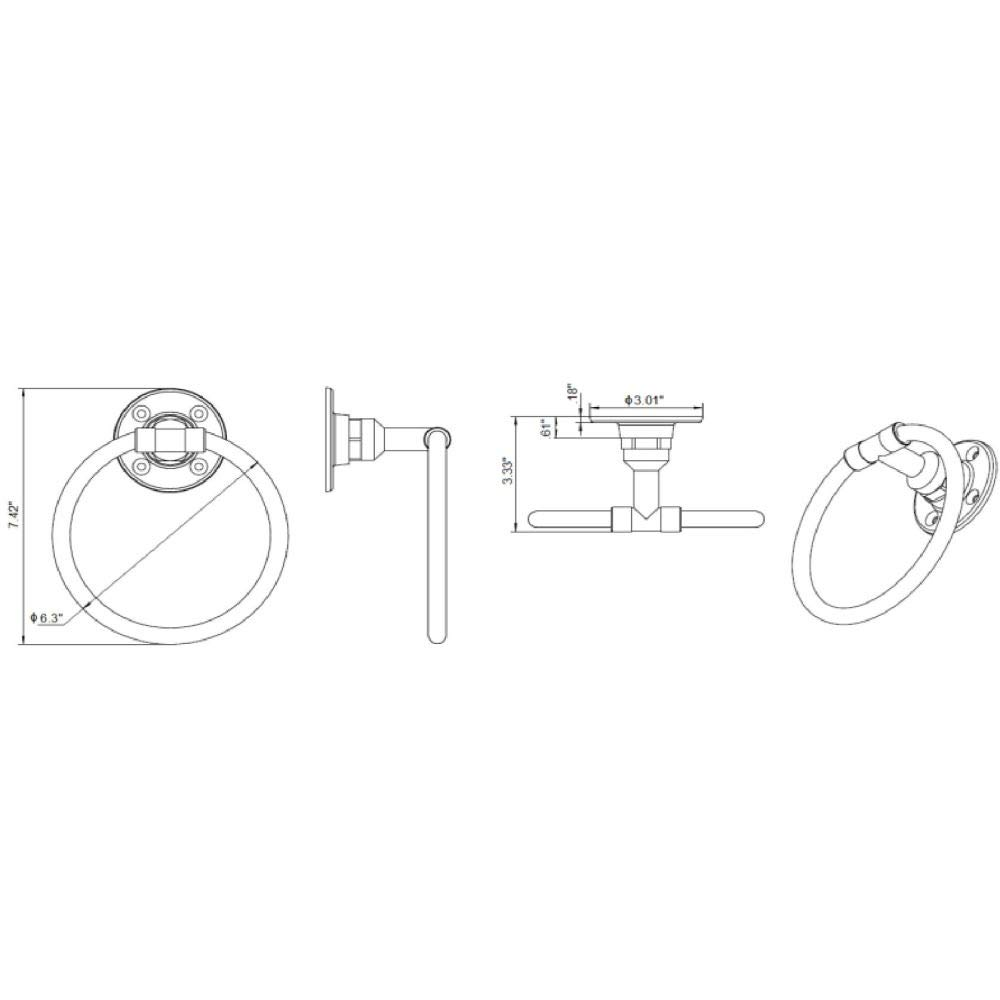 Design House Kimball toallero de anilla 580639