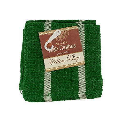 Kole Imports Cotton Striped Dish Cloths Set