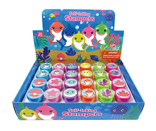 TINYMILLS 24 Pcs Shark Family Stampers for Kids