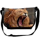 Africa Wildlife Lion Casual Adjustable Strap Shoulder Bag - Crossbody Sling Messenger Bags