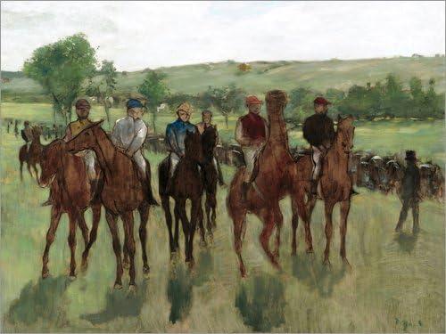 Posterlounge Cuadro de Madera 40 x 30 cm: The Riders de Edgar Degas/Everett Collection