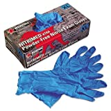 Memphis Nitri-Med Disposable Nitrile Gloves, Blue, Extra Large, 100/Box