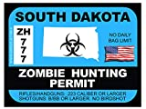 South Dakota Zombie Hunting Permit 2012 (Bumper Sticker)