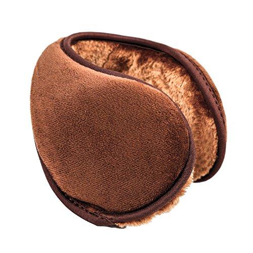 Womens Brown Air (HIG Ear Warmer Unisex Classic Fleece Earmuffs Winter Accessory Outdoor EarMuffs (Brown))