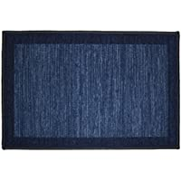 Kashi Home Sonoma Collection Stylish Geometric Inspired Decorative Accent Egyptian Area Rug, Navy, 20 x 30