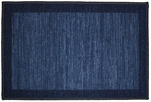 Kashi Home Sonoma Collection Stylish Geometric Inspired Decorative Accent Egyptian Area Rug, Navy, 20