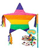 BirthdayExpress Rainbow Star Pinata Kit