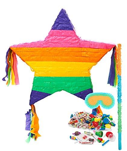 BirthdayExpress Rainbow Star Pinata Kit by BirthdayExpress