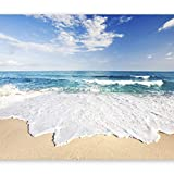 artgeist Photo Wallpaper Sea Beach 135'x101' XXL Peel and Stick Self-Adhesive Foil Wall Mural Removable Sticker Premium Print Picture Image Design Home Decor c-B-0035-a-a