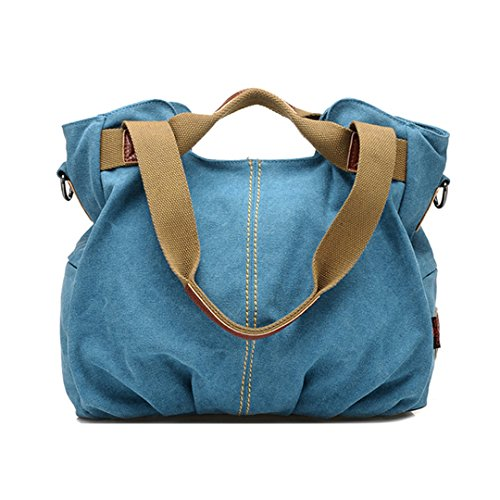 LA HAUTE - Bolso al hombro para mujer, azul (Azul) - LHTE-11 azul