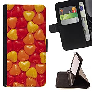 DEVIL CASE - FOR Samsung Galaxy S4 Mini i9190 - Love Candy Hearts - Style PU Leather Case Wallet Flip Stand Flap Closure Cover