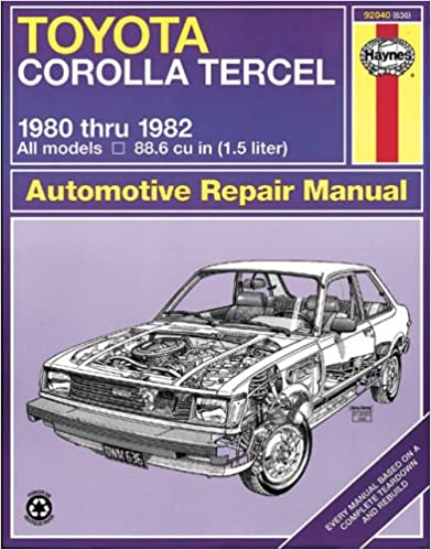 Toyota Corolla and Tercel, 1980-82 (Haynes Repair Manuals ... on