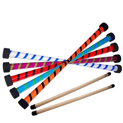 TWIST Devil Stick Set with FREE Wooden Control Hand Sticks! (Circus Sticks)