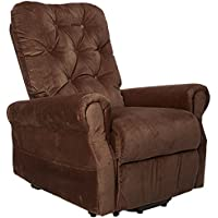 ACME Zody Chocolate Velvet Recliner with Power Lift