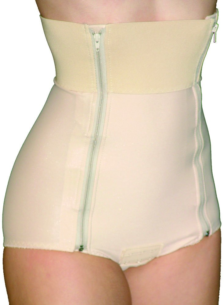 Abdominal Girdle 2 Zipper Panty NO Latex (Large Waist 31-34 Hip 41-45)
