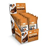 #6: Optimum Nutrition Whey Protein Almonds Snacks, Cinnamon Roll, Travel To-Go 12 Count Packs