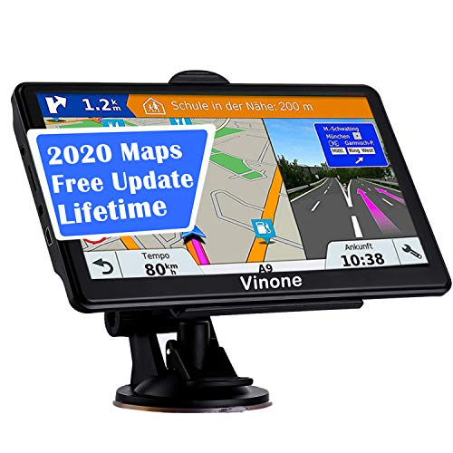 GPS Navigation for Car, Latest 2020 Map 7 inch Touch Screen Car GPS 256-8GB, Voice Turn Direction Guidance, Support Speed and Red Light Warning, Pre-Installed North America Lifetime map Free Update