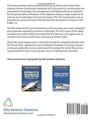 Private pilot airplane airman certification standards federal private pilot airplane airman certification standards federal aviation administration elite aviation solutions 9781939878205 amazon books fandeluxe Images