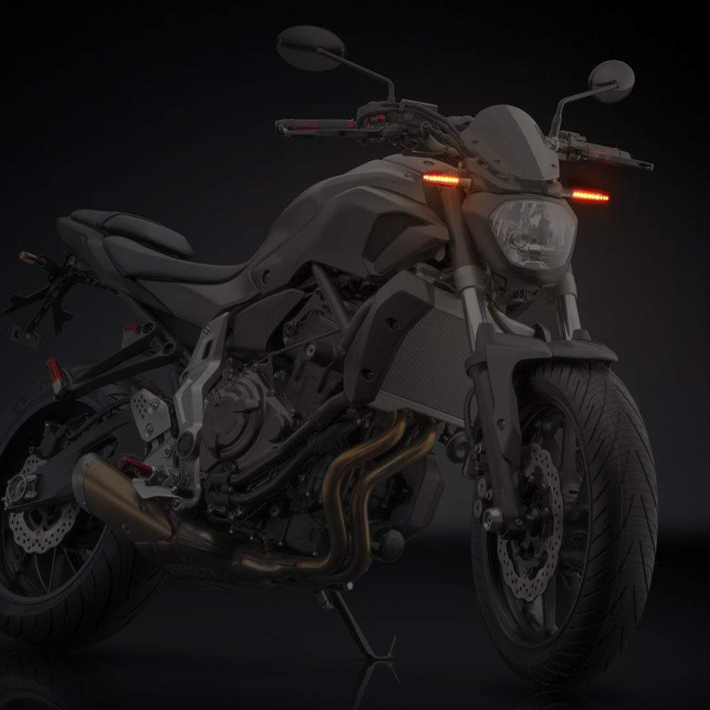 4 x LED Motorrad Mini Blinker Laufeffekt 12V wasserdicht IP65 Universal LED Lauflicht Motorradblinker schwarz