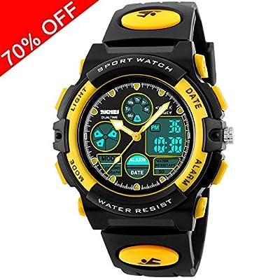 Kid Watch 50M Waterproof Sport LED Alarm Stopwatch Digital Child Quartz Wristwatch for Boy Girl by Viliysun