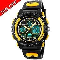 Kid Watch 50M Waterproof Sport LED Alarm Stopwatch Digital Child Quartz Wristwatch for Boy Girl ¡