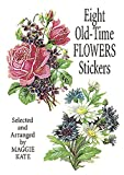 8 Old-Time Flowers Stickers, Maggie Kate, 0486403920