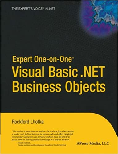 Book Expert One-on-One Visual Basic .NET Business Objects